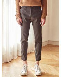 LIUNICK - Feel Good Wool Span Slacks_gray - Lyst