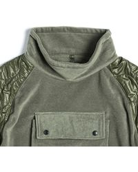 Eastlogue Quilting Pullover Sweater - Green