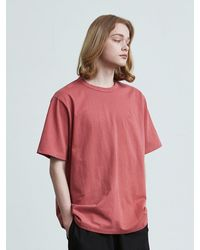 VOIEBIT 16color Premium Cotton T-shirt - Red
