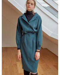 YAN13 - Classic Long Dress_blue Green - Lyst