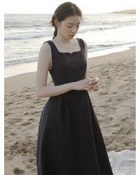 FLOWOOM Rose Vine Bustier Dress Long - Black