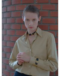 VIOLLINA - Gold Wire Leather Choker - Lyst
