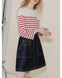 COLLABOTORY Denim Mini Skirt - Blue