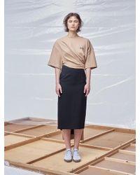 Fleamadonna - Tape Detailed Long T-shirt - Lyst