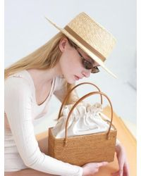 Awesome Needs - Wheat Straw Boater Hat_brown - Lyst