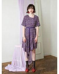 F.COCOROMIZ - Unbalance Pearl Dress Violet - Lyst