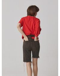Bouton - Tin Denim Shorts - Orange - Lyst