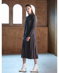 COLLABOTORY - Bacma4013m Pleats Maxy Print Shirts Dress Print - Lyst