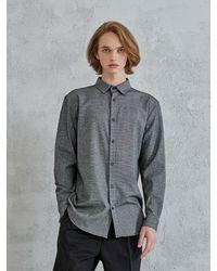 OWL91 Check Pattern Shirts - Black