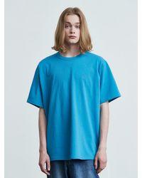 VOIEBIT 16color Premium Cotton T-shirt Blue