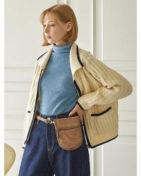 ANDSEEYOU Glossy Mini Crossbody Bag - Brown