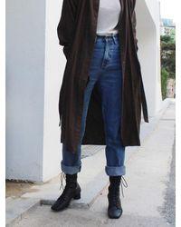 IGINOA Square Slim Lace-up Boots 4 M-ig-180904 - Black