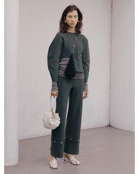 J.CHUNG Nilo Button Trouser - Green