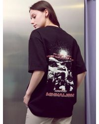 ANOUTFIT - [unisex] Universe Printing T-shirts Black - Lyst