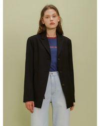 among String Solid Jacket - Black