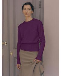J.CHUNG Leaf Cashmere Knit - Purple