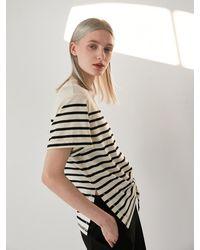 COLLABOTORY Stripe Short Sleeve Tee Shirt - Multicolor