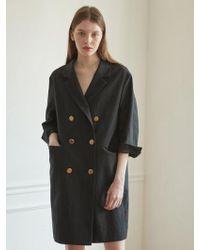 NILBY P - Linen Dress Jacket Bk - Lyst