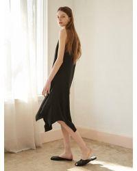 NILBY P - Unbalanced Sleeveless Dress Bk - Lyst