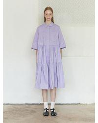 NEUL Lavender Tiered Shirtdress - Purple