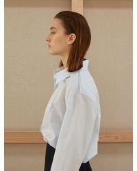AEER Stitch Fold Sleeve Shirt - Blue