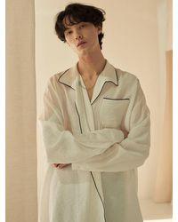 13Month Piping Shirt White