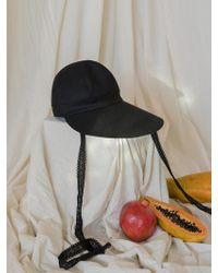 among A Pauline Hat Black - White
