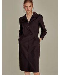 YAN13 - Cling Waist Shirt Dress Black - Lyst