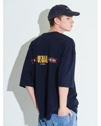 XTONZ Xtt008 Ruth Oversize T-shirt - Blue