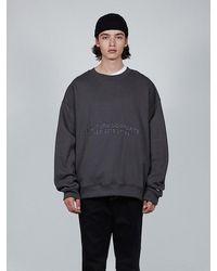 LAYER UNION Number Cc Oversized Sweatshirt Charcoal - Grey