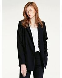 LIUNICK - Tailormade Double Jacket Navy - Lyst
