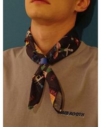 W Concept - Vacationer Scarf(navy) - Lyst