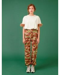 Fleamadonna Camouflage Print Cargo Pants - Green