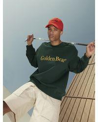 Golden Bear Functioned Sleeve Oversized Sweatshirt - Multicolour