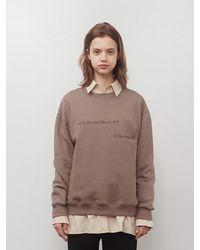 among A Cozy Sweatshirt Brown