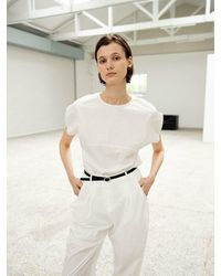 OUI MAIS NON Rose In Bud Cotton-blouse - White