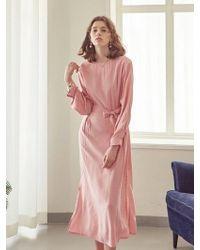 YAN13 - Mood Long Dress Pink - Lyst