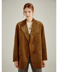 a.t.corner [duca] Premium Corduroy Oversize Jacket - Brown