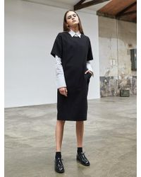 COLLABOTORY | Black Cocoon Dress | Lyst