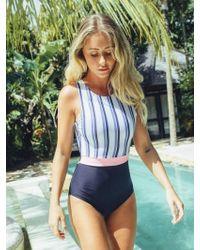 5pening 18 Fiona B Suit - Stripe - Blue