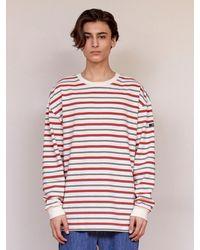 URBANDTYPE Black Label Stripe Tee Shirt - Red