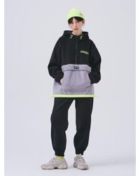 ANOTHER A - Polar Fleece Jogger Trousers Black - Lyst