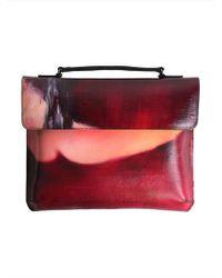 ULKIN [unisex]upcycling Satchel Bag Roy - Red