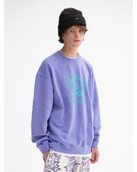 WKNDRS Smile Graphic Printing Sweatshirt (l.purple)