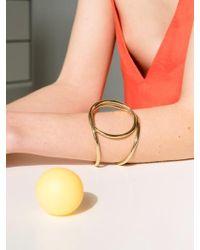 VIOLLINA - Swirling Wire Cuff_gold - Lyst