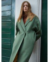 AVA MOLLI - Vanesa Handmade Cash Coat -olive - Lyst