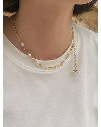 FLOWOOM Simple Pearl Choker - Metallic