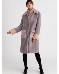 Petite Studio Helena Faux-fur Coat - Grey