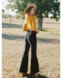 DAZE DAYZ Corduroy Flare Trousers - Black