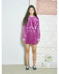Baby Centaur - Baby Velvet Mini Dress Purple - Lyst